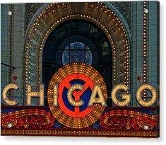 Chicago Emblem Acrylic Print by By Ken Ilio