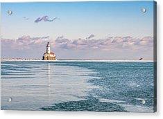 Chicago Harbor Light Landscape Acrylic Print