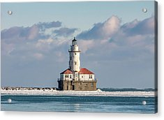 Chicago Harbour Light Acrylic Print