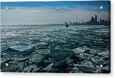 Chicago In Winter Acrylic Print
