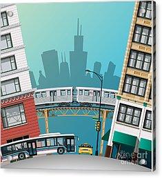 Chicago Traffic Acrylic Print