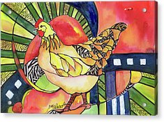 Chicken Red Acrylic Print