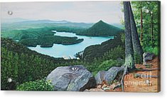 Acrylic Print featuring the painting Chilhowee Overlook by Mike Ivey