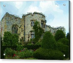 Chirk Castle Painting Acrylic Print