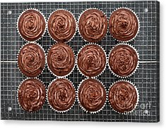 Acrylic Print featuring the photograph Chocolate Cupcakes by Tim Gainey