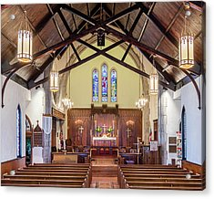 Acrylic Print featuring the photograph Christ Episcopal Interior by Allin Sorenson