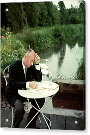 Christian Dior In France In The 1950s - Acrylic Print by Kammerman