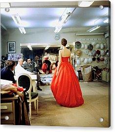 Christian Diorchristian Dior Misc Acrylic Print by Loomis Dean