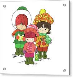 Christmas Angels Acrylic Print