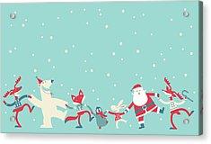 Christmas Dancing Acrylic Print by Akindo