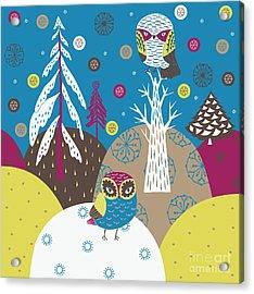 Christmas Forest Acrylic Print