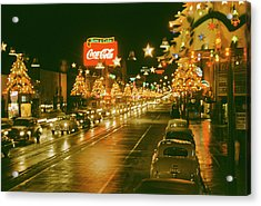 Christmas In La Acrylic Print by Harvey Meston
