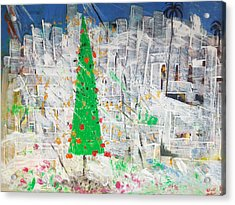 Christmas In Town Acrylic Print