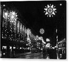 Christmas Lights Acrylic Print by William Vanderson