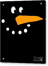 Acrylic Print featuring the digital art Christmas Snowman by Flippin Sweet Gear