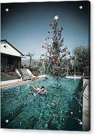 Christmas Swim Acrylic Print