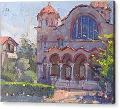 Church At Nea Erythraia Athens Acrylic Print