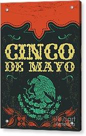 Cinco De Mayo - Mexican Holiday Vintage Acrylic Print