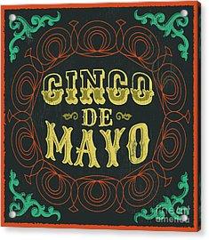 Cinco De Mayo - Vintage Mexican Acrylic Print