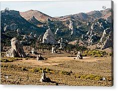 Circle Creek Basin In City Of Rocks Acrylic Print by William Mullins