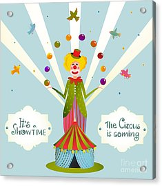 Circus Juggling Clown Carnival Show Acrylic Print