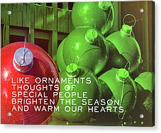 City Christmas Quote Acrylic Print by JAMART Photography