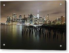 City Lit Up At Night Acrylic Print by Damien Gavios / Eyeem