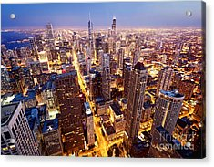City Of Chicago. Aerial View  Of Acrylic Print