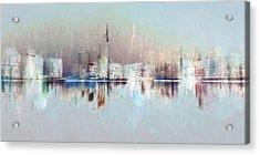 City Of Pastels Acrylic Print