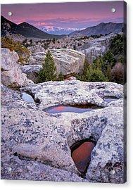 City Of The Rocks Acrylic Print by Leland D Howard