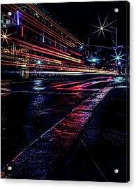 City Streaks Acrylic Print