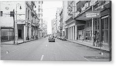 Acrylic Print featuring the photograph City Street, Havana by Mark Duehmig
