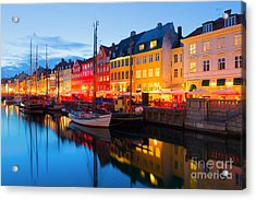Cityscape Of Copenhagen At A Summer Acrylic Print