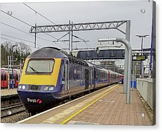 Class 43 High Speed Train At Ealing Broadway Station Acrylic Print