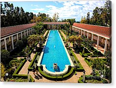 Classic Awesome J Paul Getty Architectural View Villa  Acrylic Print
