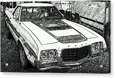 Classic Ford Sketch Acrylic Print