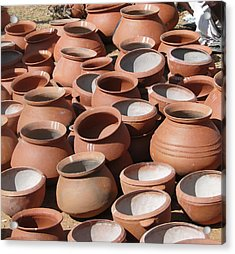 Clay Pots  For Sale In Chatikona  Acrylic Print