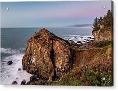 Clear Sunset At Wedding Rock Acrylic Print