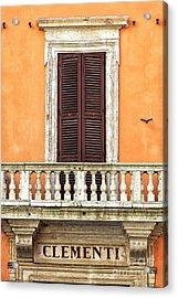 Clementi Rome Italy Acrylic Print by John Rizzuto