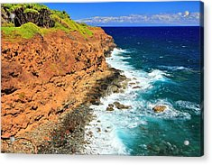 Cliff On Pacific Ocean Acrylic Print