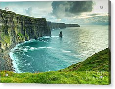 Cliffs Of Moher At Sunset, Co. Clare Acrylic Print