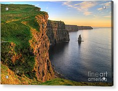 Cliffs Of Moher At Sunset - Ireland Acrylic Print