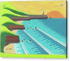 Cliffside Sunset  Acrylic Print