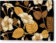 Climbing Plant Ivy. Seamless Floral Acrylic Print