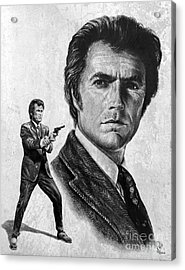 Clint Eastwood Is Dirty Harry Acrylic Print