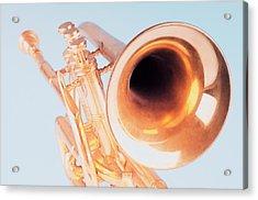 Close-up Of A Trumpet Acrylic Print by Photosindia