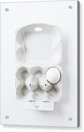 Close Up Of Egg In Carton Acrylic Print by Cultura Rm Exclusive/line Klein