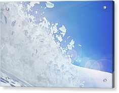 Close Up Of Snow Covered Hill With Acrylic Print by Moof