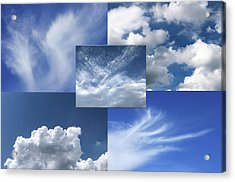 Cloud Collage Two Acrylic Print
