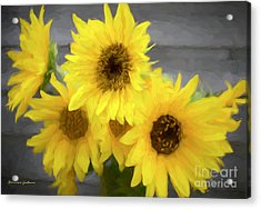 Cloud Of Sunflowers Acrylic Print
